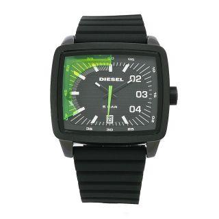 Diesel Mens X Ray Black Rubber Strap Black Dial Watch