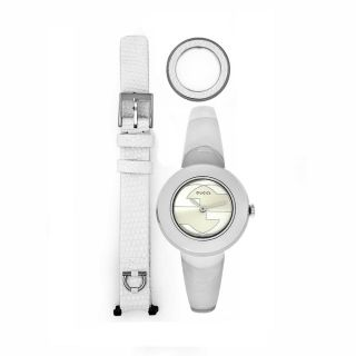 Gucci Womens U Play Stainless Steel Bangle Interchangeable Strap