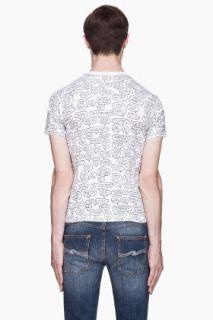 Comme Des Garçons Play  White Speech Bubble Print T shirt for men