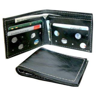 Recycled Mens Black Vintage Rubber Wallet