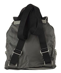 Prada Dark Grey Nylon Mini Backpack