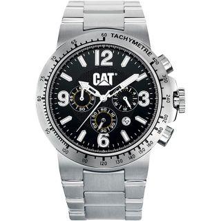 CAT Mens Black Basic Chronograph Watch