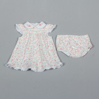Little Me Newborn Girls Knit Floral Dress