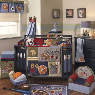 Lambs & Ivy Playoffs 6 piece Crib Bedding Set