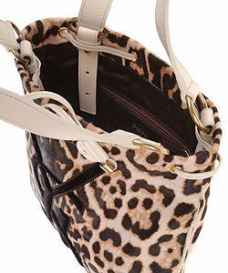 YSL Haircalf Leopard Handbag