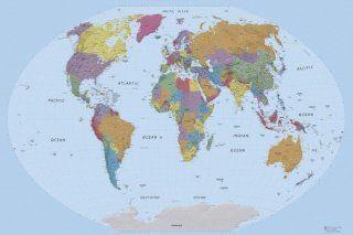 Karten   Weltkarte, Edition 2011, In Englisch Selbstklebende