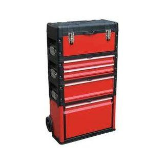 Westward 13T139 Tool Box, 5 Dia Wheels, 8000 cu. in., Red: