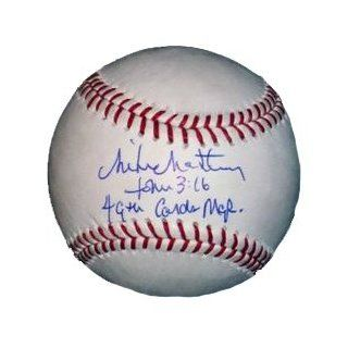 Mike Matheny autographed signed MLB baseball with 49th