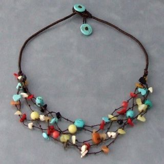 Handmade Multi gemstone Layers Necklace (Thailand) Today $21.99 4.8