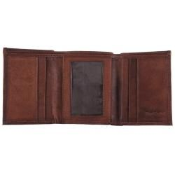Boston Traveler Milano Mens Genuine Leather Tri fold Wallet