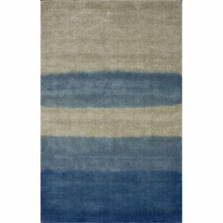 Handmade Tie Dye Blue Wool Rug (5 x 8)