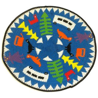 Telephone Wire Blue 12.5 inch Pictorial Decorative Plate (South Africa