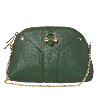 Yves Saint Laurent Muse Mini Green Leather Clutch