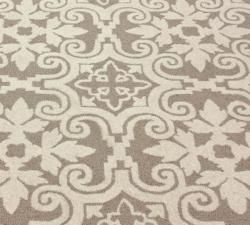 Handmade Spanish Tiles Beige Wool Rug (5 x 8)