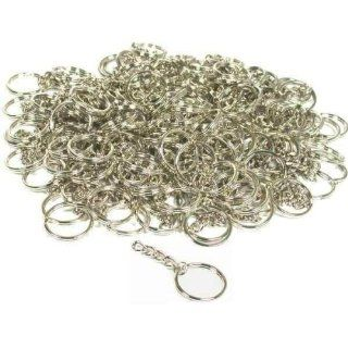 144 Key Chain Wallet Parts Nickel Plated Craft Findings