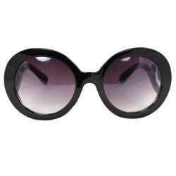 Womens Black Oval Fashion Sunglasses