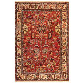 Hand knotted Turkistan Vegetable Dye Wool Rug (6 x 9)