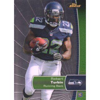2012 Topps Finest Football #145 Robert Turbin RC Seattle Seahawks NFL