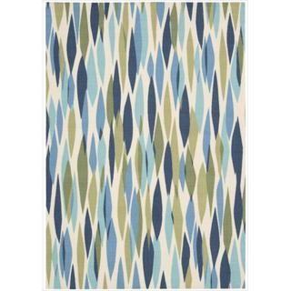 Waverly Sun & Shade Blue/ Green Rug (10 x 13)