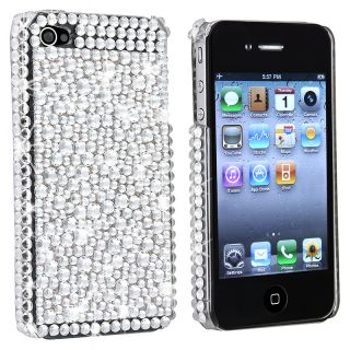BasAcc Silver Diamond Snap on Case Version 2 for Apple iPhone 4/ 4S