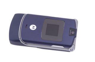 Motorola Cosmic Blue GSM Quadband RAZR V3 Cell Phone