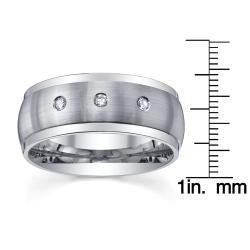 Cobalt 1/10ct TDW Diamond Mens Wedding Band