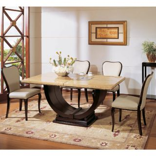 Nicola 7 piece Marble Dining Set