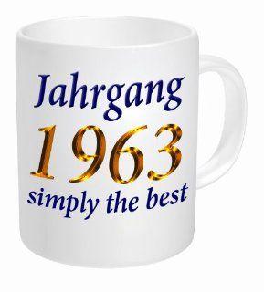 Tasse Jahrgang 1963 simply the best Küche & Haushalt
