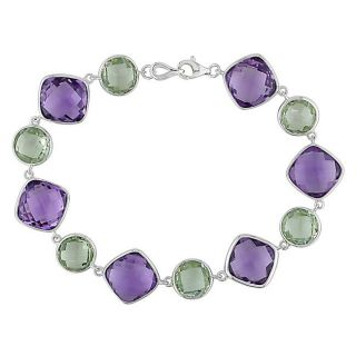 14k White Gold Multi colored Amethyst Bracelet