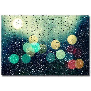 Beata Czyzowska Young Rainy City Canvas Art