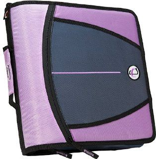 Capacity 3 Inch Zipper Binder, Lavender, D 146 LAV: Office Products