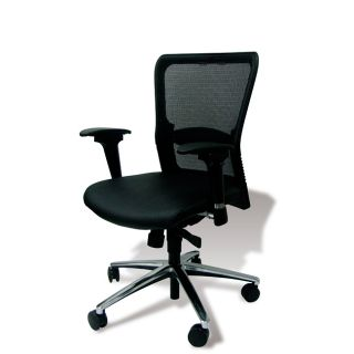 Leather/ Mesh Wheeled Ergonomic Office Chair