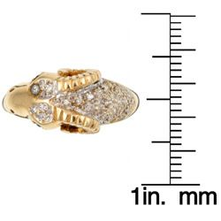14k Gold 2/5ct TDW Diamond Rams Head Estate Ring (J, SI2) (Size 7