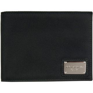 Dolce & Gabbana Nylon Black Bi fold Wallet