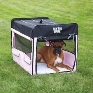Guardian Gear XL Pink Polka Dot Collapsible Crate