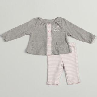 Calvin Klein Girls Newborn Pink/ Grey 2 piece Set