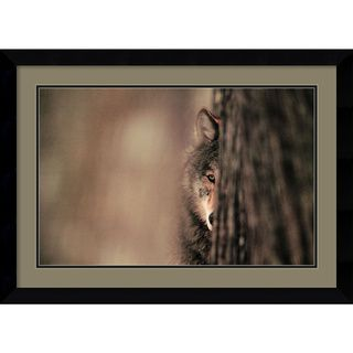 Jim Brandenburg Gray Wolf Framed Art