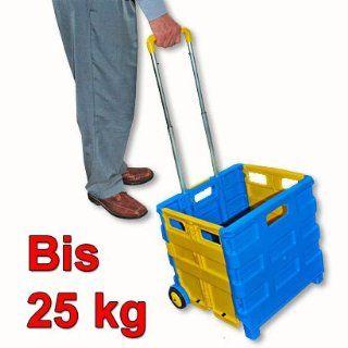 Einkaufstrolley Einkaufswagen Rollbox Einkaufs Trolley 25kg klappbar