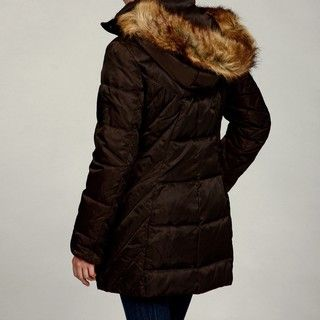 Jones New York Womens Faux fur Down Jacket FINAL SALE