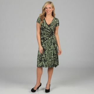 Connected Apparel Womens Floral Print Cap Sleeve Dress Today: $68.99