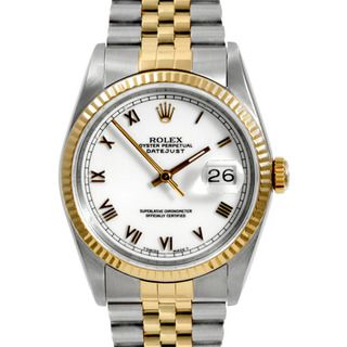 Pre owned Rolex Mens Two tone Steel Datejust Watch