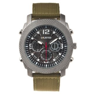 Unlisted by Kenneth Cole Mens Nylon Strap Watch