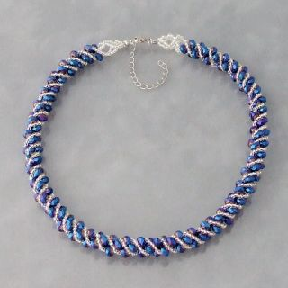 Navy Blue Crysal Necklace (Philippines)