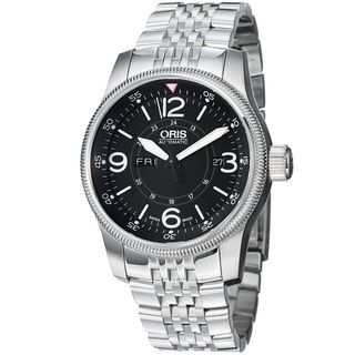 Oris Mens Big Crown Black Dial Stainless Steel Automatic Watch