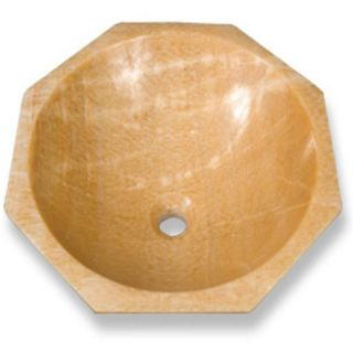 Baden Bath Hexagon Honey Onyx Vessel Sink