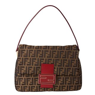 Fendi Zucca Borsa Mamma Shoulder Bag