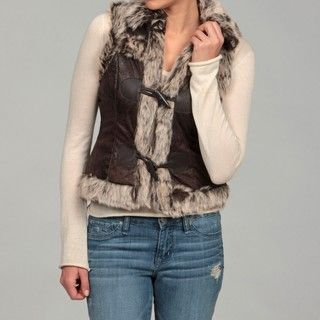 Last Kiss Womens Faux Fur Vest FINAL SALE