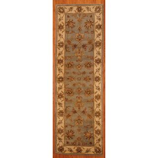 Indo Tufted Mahal Light Blue/ Beige Wool Rug (26 x 8) Today $104.99