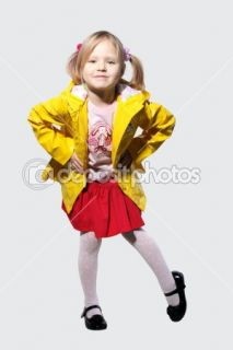 Little girl in a yellow jacket  Stock Photo © Artem Povarov #1491346