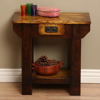 Black Smith Wooden Side Table (Indonesia)
